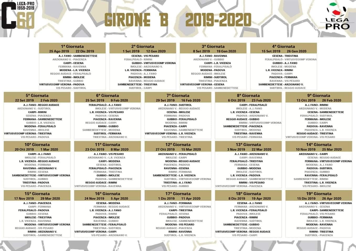 Calendario Calcio Padova.Calcio Per Il Modena Il Campionato Inizia Col Vicenza Il