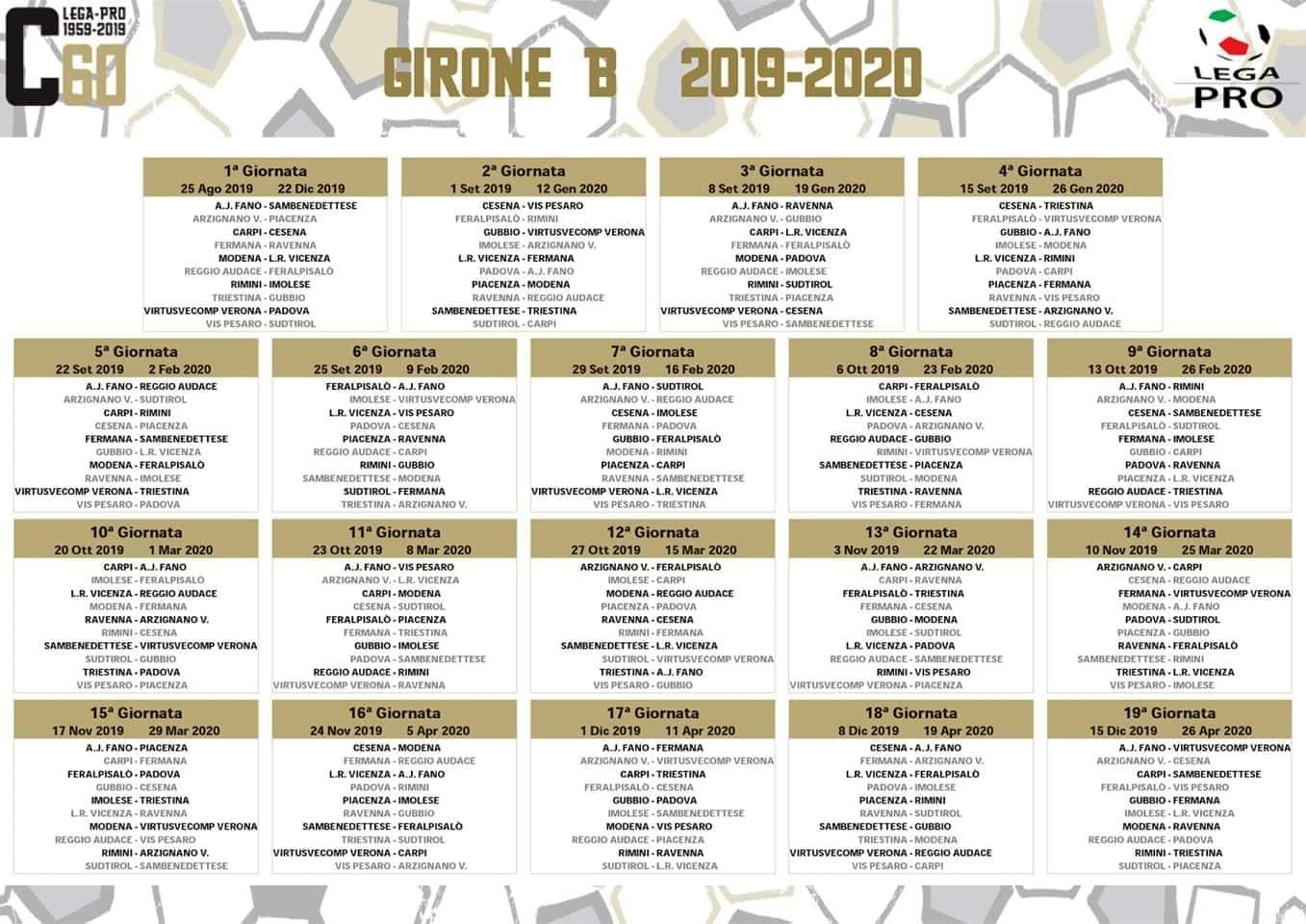 Cesena Calcio Calendario.Calcio Per Il Carpi Il Campionato Inizia Col Cesena Il