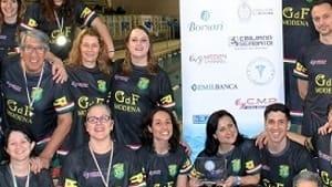 il gruppo sportivo gdf si laurea campione d'italia master di nuoto pinnato -5