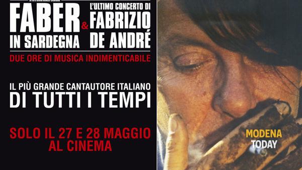 """""""Faber in Sardegna & l'ultimo concerto di Fabrizio De Andrè"""" solo il 27 e 28 maggio a Modena"""