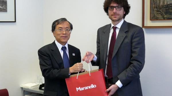 Un sabato tutto giapponese a Maranello, tra appuntamenti pubblici e la visita delil console generale