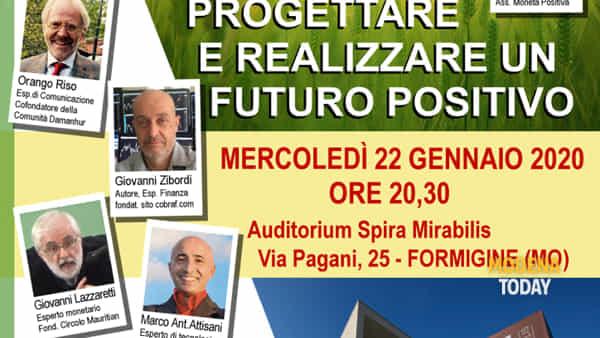 """""""Progettare e realizzare un futuro positivo"""", un incontro all'Auditorium Spira Mirabilis"""