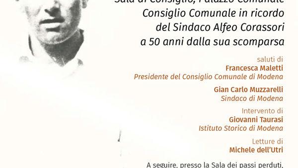 Mostra su Alfeo Corassori, Modena ricorda il suo primo sindaco