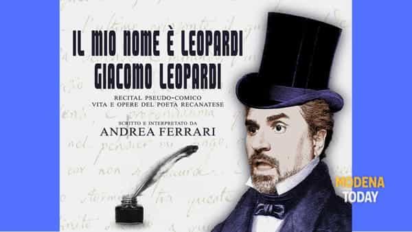 """""""Il mio nome è Leopardi. Giacomo Leopardi"""" al Teatro Cittadella"""