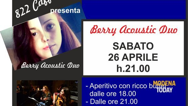 Berry acoustic duo live in concerto all'Otto Due Due Caffè