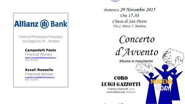 Concerto d'Avvento, corale Gazzotti in San Pietro