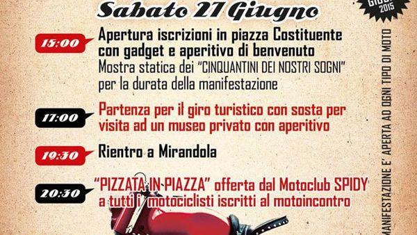 Motoincontro a Mirandola, due giorni di raduno nazionale