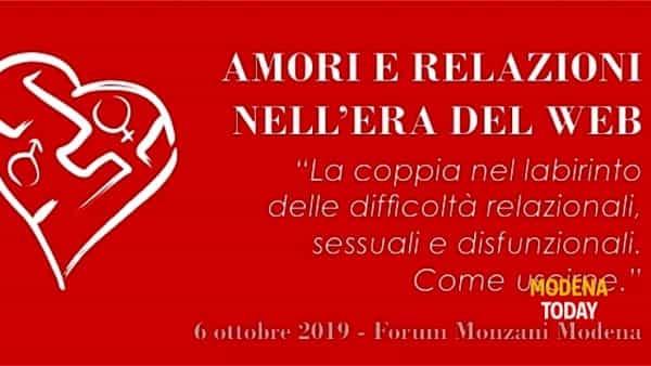 """""""Amori e relazioni nell'era del web"""", un convegno al Forum Monzani"""