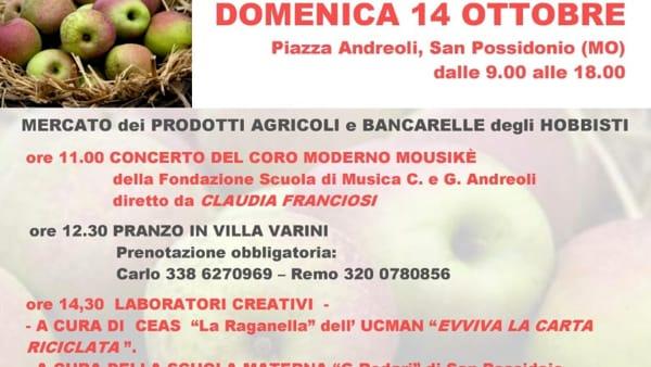 San Possidonio, torna la Festa della Mela Campanina e del Parmigiano Reggiano