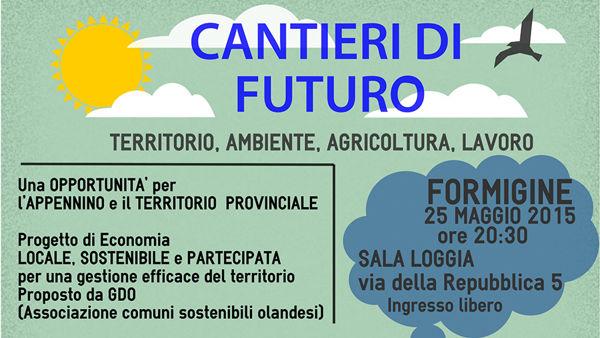 """""""Cantieri di futuro: territorio, ambiente, agricoltura, lavoro"""", convegno a Formigine"""