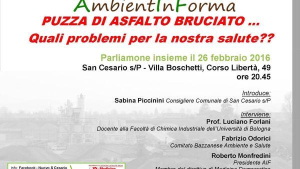 San Cesario, confronto fra i cittadini sul problema della puzza di bitume