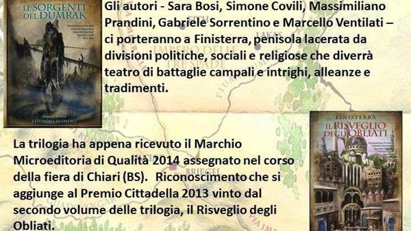 Natale a Finisterra, a tu per tu con il fantasy made in Modena
