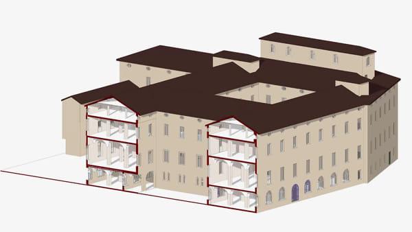 IL VIDEO - Il progetto di recupero dell'ex ospedale Estense