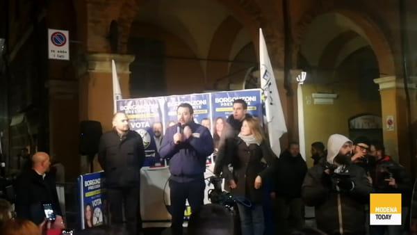 """""""Cambiamento atteso da 70 anni"""", l'intervento di Salvini in via Gallucci"""