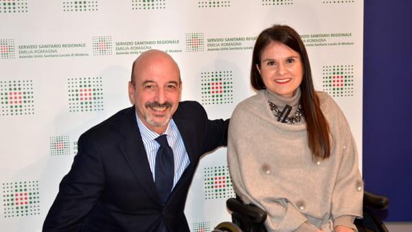 Massimo Annicchiarico e Stefania Pedroni, vicepresidente nazionale UILDM-2