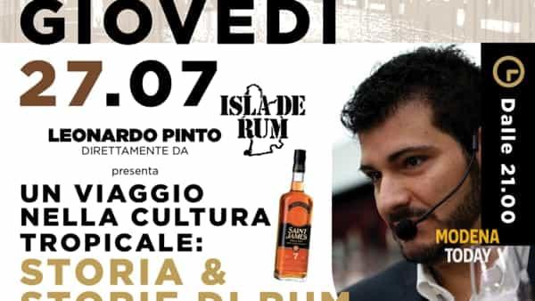 """""""Storia e storie di rum"""" a Carpi"""