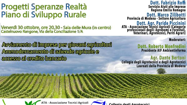 AmbientInForma, un incontro sul Piano di Sviluppo Rurale