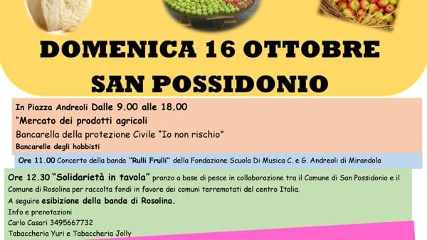 A San Possidonio la Festa della Mela Campanina e del Parmigiano Reggiano