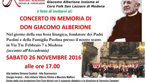Modena, un concerto in memoria del fondatore dei Padri Paolini
