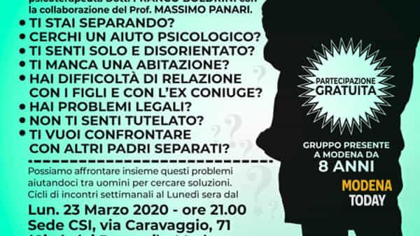 """""""Self Help"""", torna a Modena il laboratorio di discussione per uomini separati"""