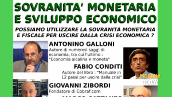 """""""Sovranità monetaria e sviluppo economico"""", conferenza musicale con Povia"""