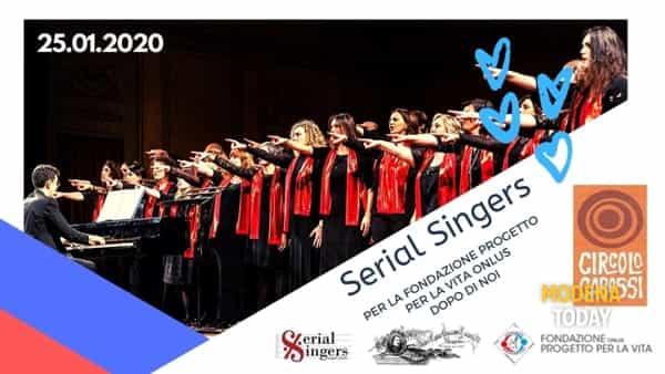 """Concerto dei Serial Singers per la Fondazione """"Progetto per la vita"""""""