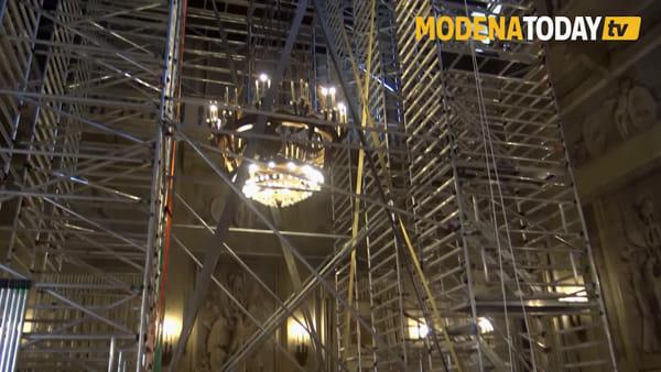 Restauro del Salone d'Onore. Antichi affreschi tornano a prendere forma nel Palazzo Ducale