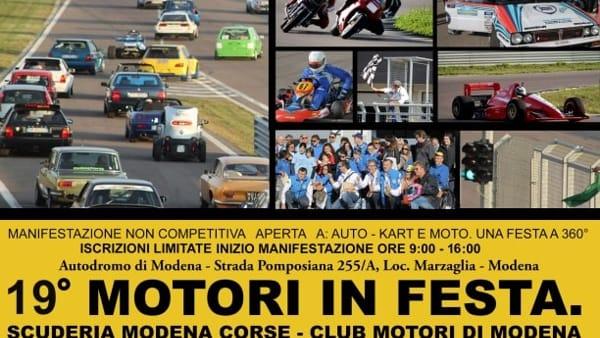 """All'Autodromo di Modena la 19° edizione di """"Motori in festa"""""""