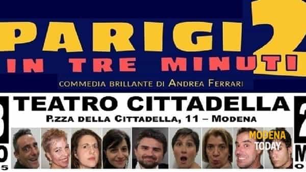 """""""Parigi 2 in tre minuti"""" al Teatro Cittadella"""