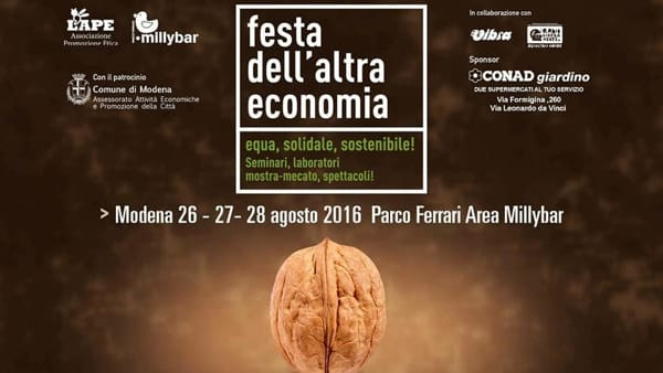 """La  """"Festa dell'altra economia"""" torna al Parco Ferrari"""
