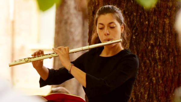 Flauto e chitarra per un concerto di Natale ad AGO congli allievi del Vecchi-Tonelli