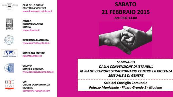 Violenza di genere, un seminario in Municipio dialogando con il Governo