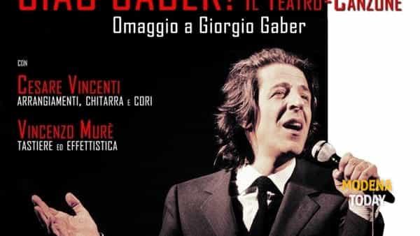 """""""Ciao Gaber!"""", torna il teatro-canzone di Andrea Ferrari"""