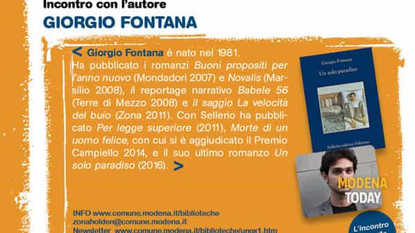 """""""Un solo paradiso"""", incontro con l'autore Giorgio Fontana"""