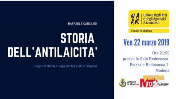 """Presentazione del libro """"Storia dell'antilaicità"""" in Redecocca"""
