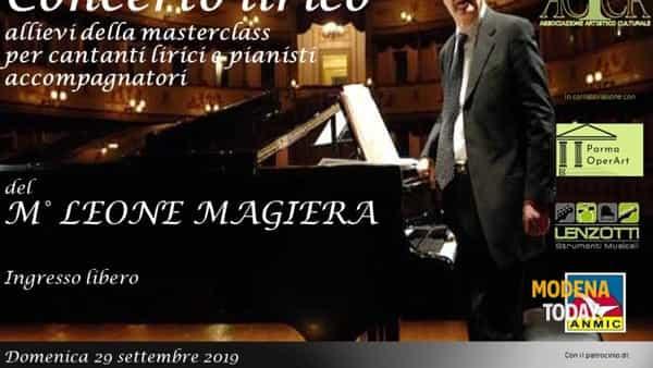 Concerto lirico con gli allievi della masterclass del Maestro Leone Magiera