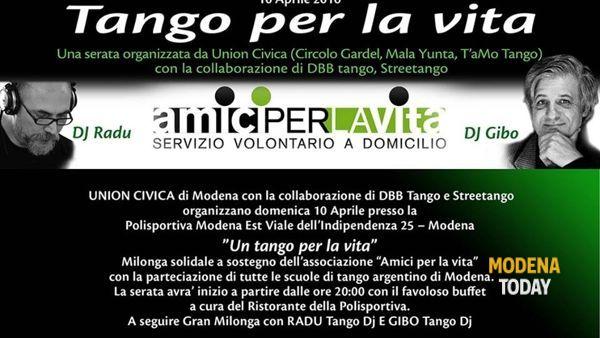Tango per la vita, milonga solidale a Modena Est