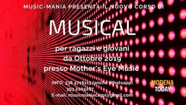 Nuovo corso di musical per ragazzi e giovani a Carpi