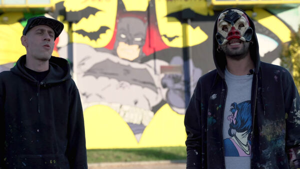VIDEO | Batman prende vita in un murales, Solo e Diamond raccontano l'opera