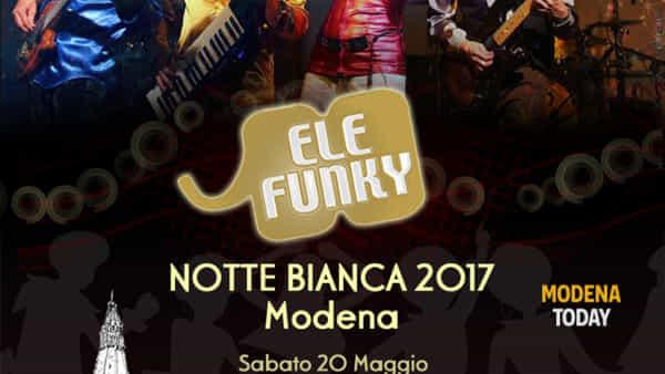 Elefunky live alla Notte Bianca 2017