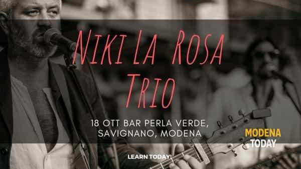 Concerti. Niki La Rosa Trio live al Perla Verde