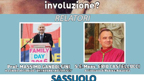Gender, un incontro a Sassuolo con il prof. Gandolfini e il vescovo Castellucci