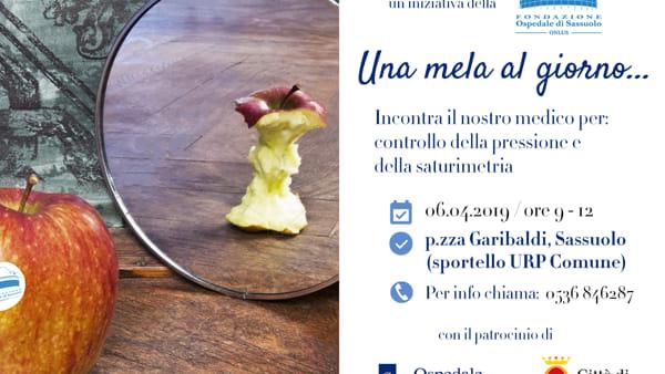 """""""Una mela al giorno..."""", mattinata di misurazione gratuita di pressione e saturimetria a Sassuolo"""