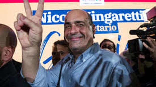 Il neo segretario Nicola Zingaretti chiude la Festa di primavera Pd a Ponte Alto