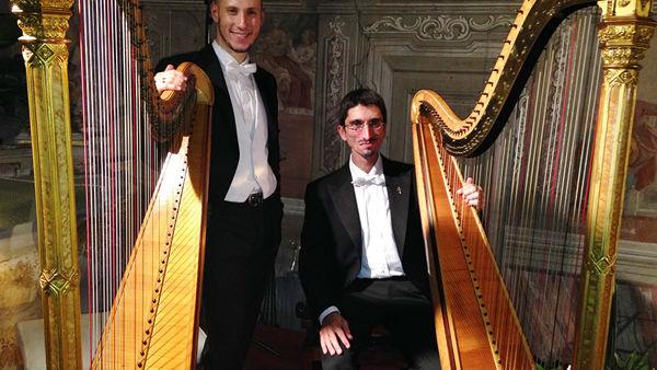 Concerti, musica romantica con il duo di arpe Erard