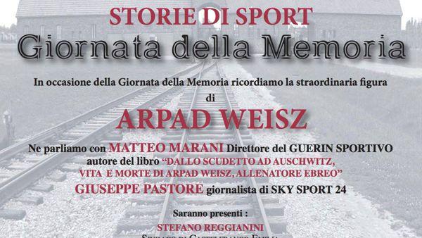 Memoria e sport, incontro sulla storia di Arpad Weisz