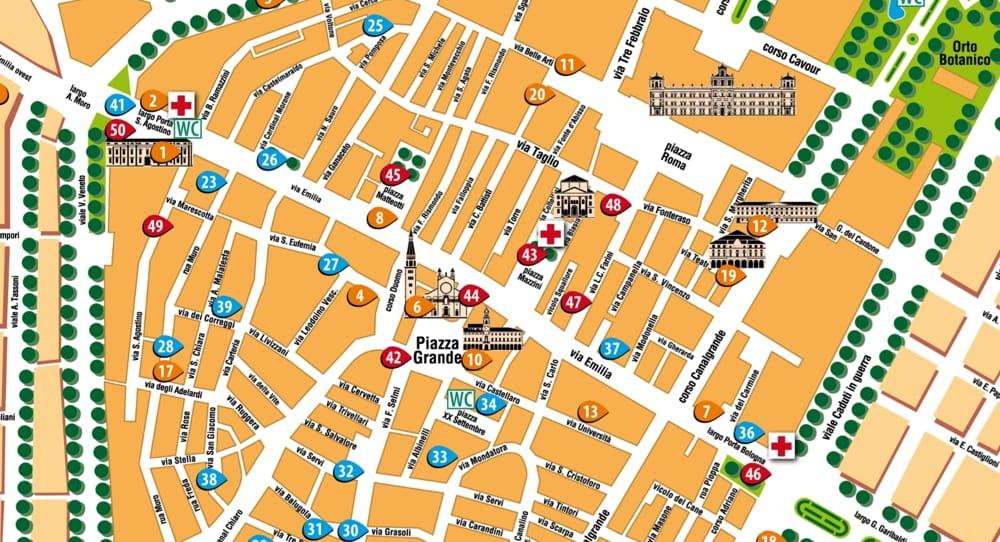 Cartina Italia Interattiva Html.Guida Turistica Mappa Interattiva Di Modena